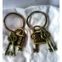 Amuleto candado con llaves