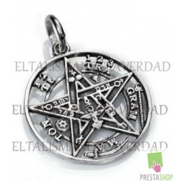 Amuleto tetragramaton de plata de 2.5 cm