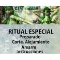 Ritual corte, alejamiento y amarre